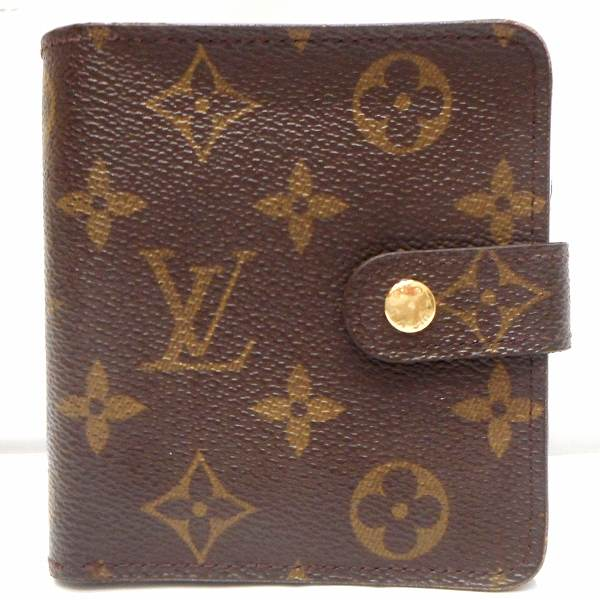 ルイヴィトン Louis Vuitton モノグラム コンパクトジップ M61667 財布 2つ折り ★送料無料★【中古】【あす楽】