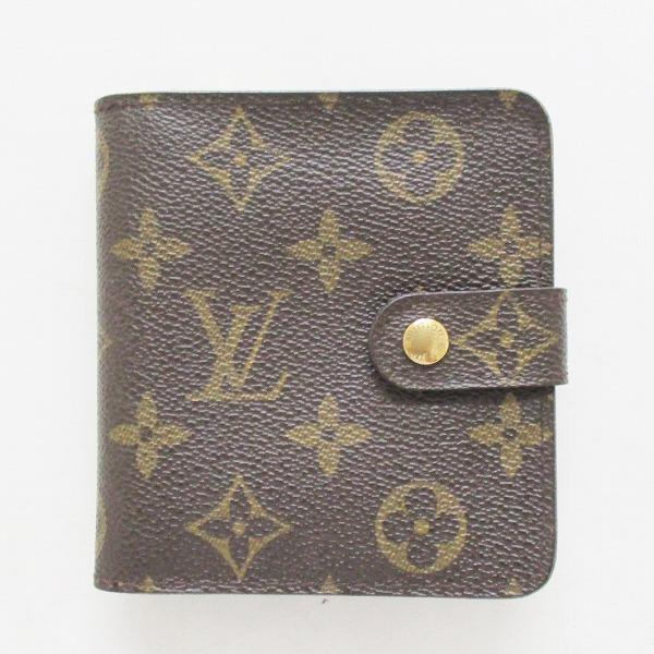 ルイヴィトン Louis Vuitton コンパクトジップ モノグラム M61667 財布 2つ折り ユニセックス ★送料無料★【中古】【あす楽】