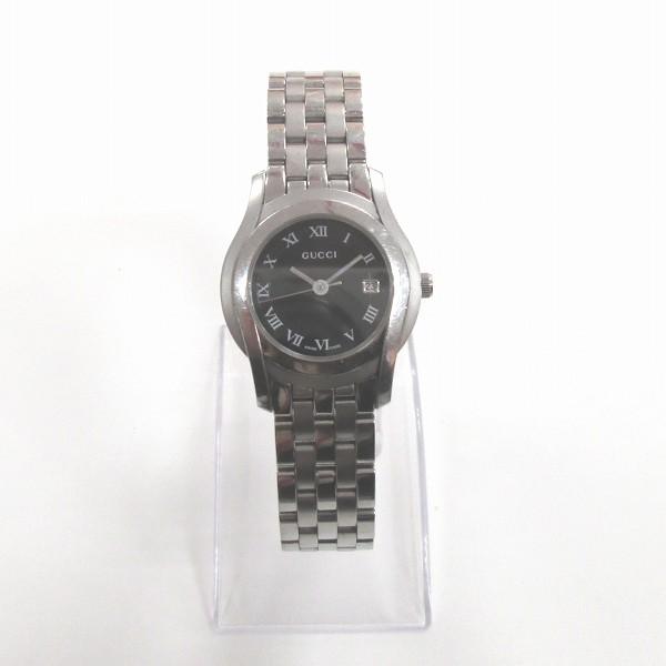 グッチ GUCCI 5500L ブラック文字盤 クォーツ レディース 時計 腕時計 レディース ★送料無料★【中古】【あす楽】