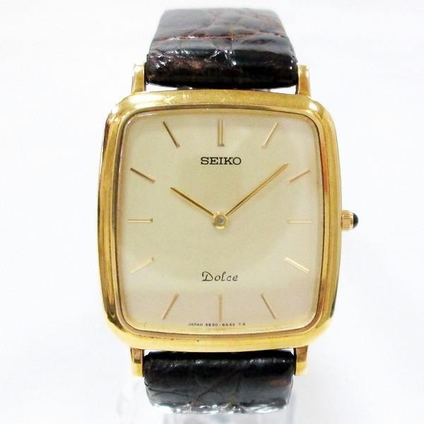 セイコー ドルチェ 5E30-5A50 時計 腕時計 メンズ クオーツ 18KT ★送料無料★【中古】【あす楽】