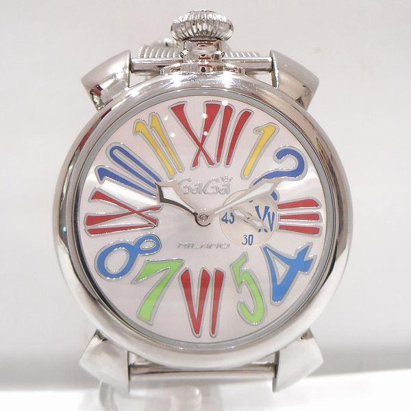ガガミラノ マヌアーレ スリム 46 5081 1時計 腕時計 メンズ ★送料無料★【中古】【あす楽】