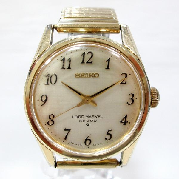 セイコー ロードマーベル3600 5740-8000 時計 腕時計 メンズ 手巻き ゴールド文字盤 ★送料無料★【中古】【あす楽】