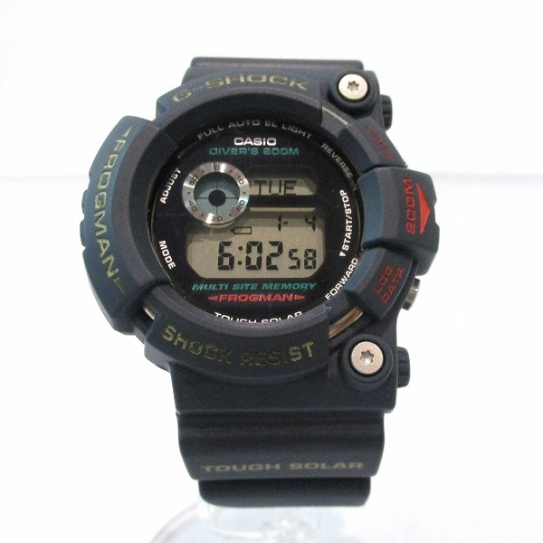 カシオ カシオ G-SHOCK フロッグマン GW-200-2JF ネイビー 腕時計 メンズ時計 ★送料無料★【中古】【あす楽】