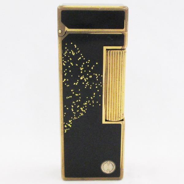 ダンヒル ライター ブラック×ゴールド ラメ 喫煙具 小物 ★送料無料★【中古】【あす楽】
