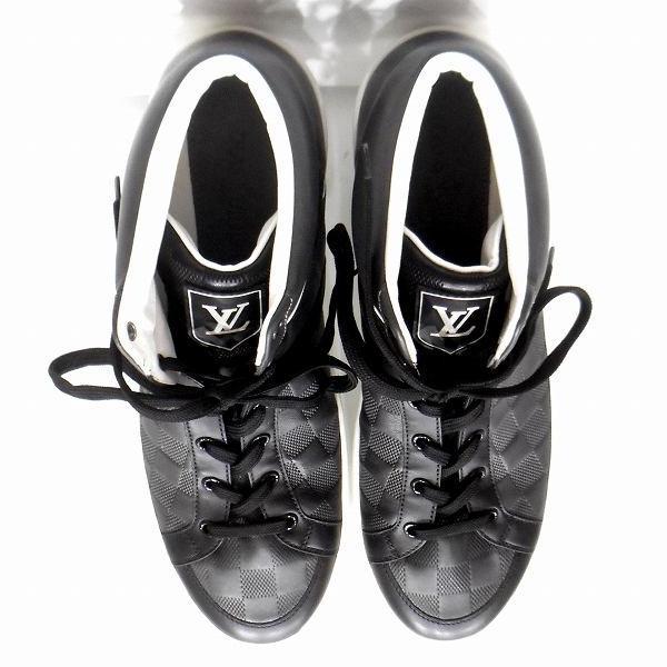 ルイヴィトン Louis Vuitton メテオール ダミエ ブラック×ホワイト靴 スニーカー メンズ 小物 ★送料無料★【中古】【あす楽】