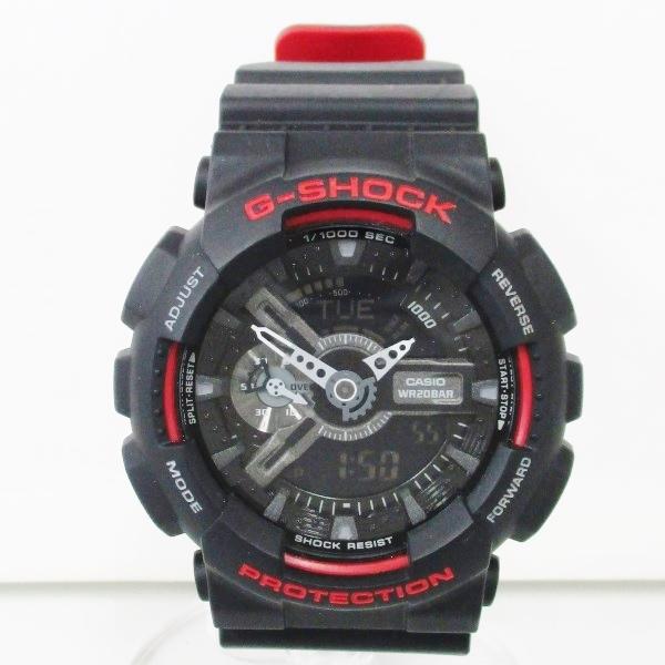 カシオ G‐SHOCK 樹脂 ブラックレッド GA-110HR 時計 腕時計 メンズ ★送料無料★【中古】【あす楽】