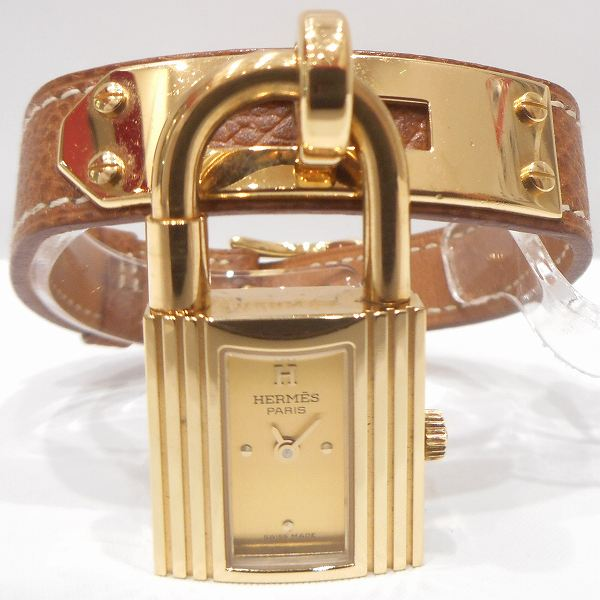 エルメス Hermes ケリー ウォッチ クォーツ レザーベルト 時計 腕時計 レディース ★送料無料★【中古】【あす楽】