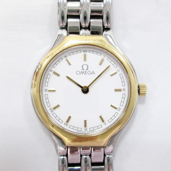 オメガ クオーツ 白文字盤 時計 腕時計 レディース ★送料無料★【中古】【あす楽】