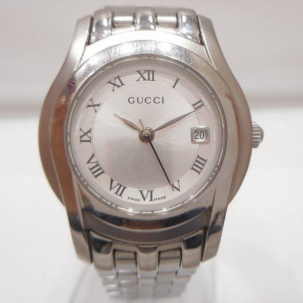 グッチ GUCCI 5500L ステンレススチール クォーツ デイト 時計 腕時計 レディース ★送料無料★【中古】【あす楽】