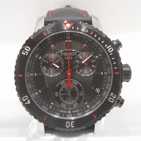 02f46d92635 [brand] Tissot [brand name] Chronograph [model number] T067417A [serial  number] 11BC0444*** [movement] quartz [materials] SS X leather