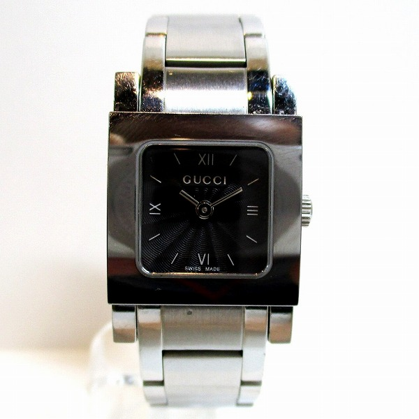 グッチ GUCCI 7900P シルバー 黒文字盤 時計 腕時計 レディース ★送料無料★【中古】【あす楽】