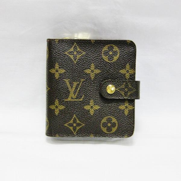 ルイヴィトン Louis Vuitton モノグラム コンパクトジップ M61667 財布 2つ折り レディース ★送料無料★【中古】【あす楽】