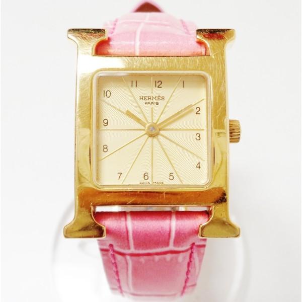 エルメス Hermes Hウォッチ HH1.201 クォーツ 時計 腕時計 レディース ★送料無料★【中古】【あす楽】