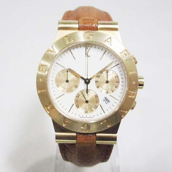 ブルガリ BVLGARI ディアゴノ CH35G K18 クオーツ 時計 腕時計 メンズ ★送料無料★【中古】【あす楽】