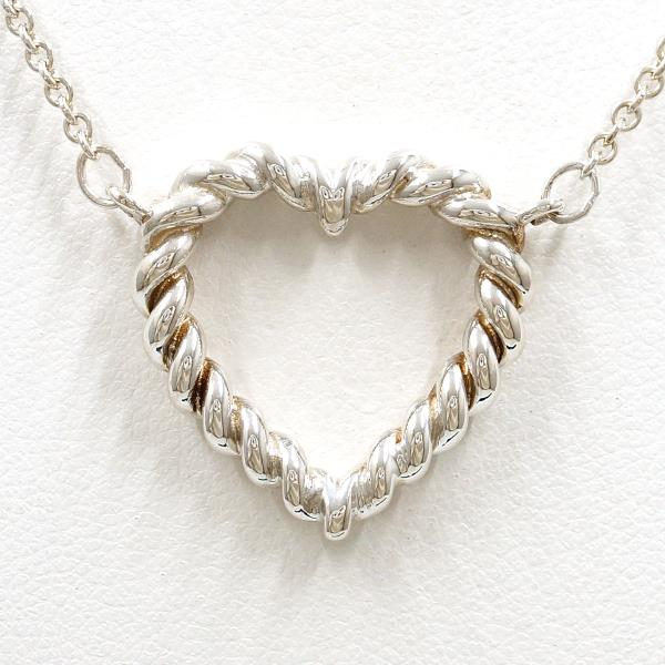 d3d620e3e3bc3 Tiffany twist heart silver necklace metal bag used jewelry ★★