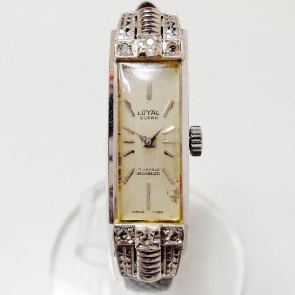 ロイヤルクイーン WGK14 手巻き 時計 腕時計 レディース ★送料無料★【中古】【あす楽】