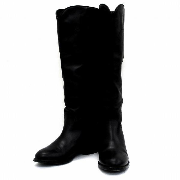 シャネル CHANEL ロングブーツ 14A G26069 X01906 93505 25C ブラック 靴 ブーツ レディース 小物 ★送料無料★【中古】【あす楽】