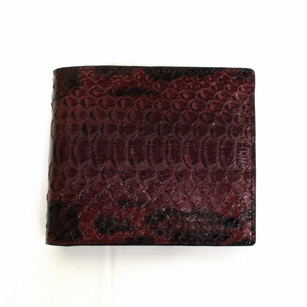 ポールスミス バーガンディ パイソン 財布 二つ折り財布 メンズ ★送料無料★【中古】【あす楽】