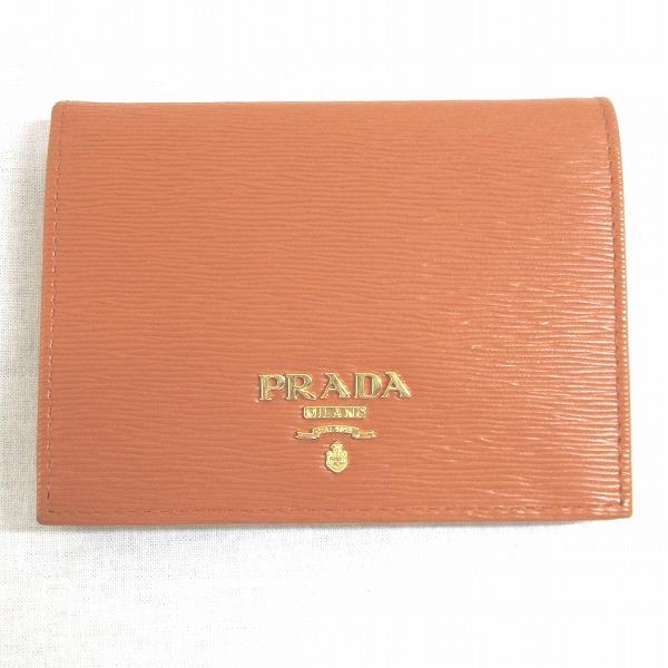 プラダ PRADA ヴィッテロムーヴ 1MV204 財布 二つ折り財布 オレンジ ★送料無料★【中古】【あす楽】