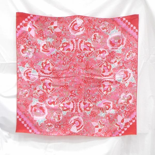 ルイヴィトン Louis Vuitton ピンク×レッド 花柄 ファッション小物 スカーフ レディース ★送料無料★【中古】【あす楽】