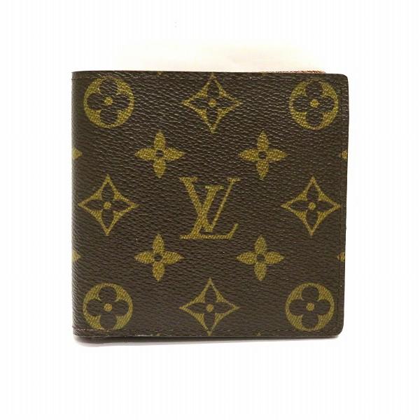 ルイヴィトン Louis Vuitton モノグラム ポルトフォイユ マルコ 財布 小銭入れ付二つ折り財布 M61675 メンズ ★送料無料★【中古】【あす楽】