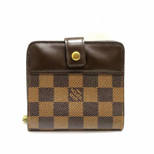 ルイヴィトン Louis Vuitton コンパクト ジップ 二つ折り財布 N61668 レディース ★送料無料★【中古】【あす楽】