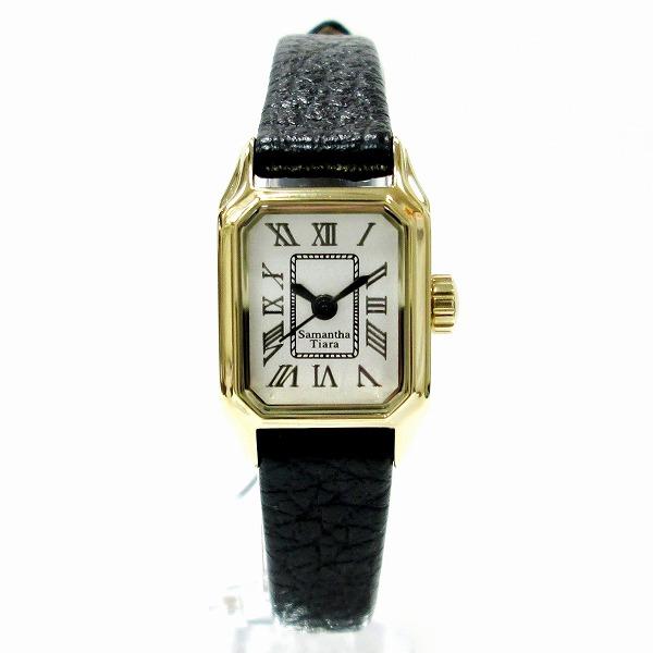 サマンサティアラ 時計 腕時計 レディース クオーツ シルバー文字盤 ★送料無料★【中古】【あす楽】