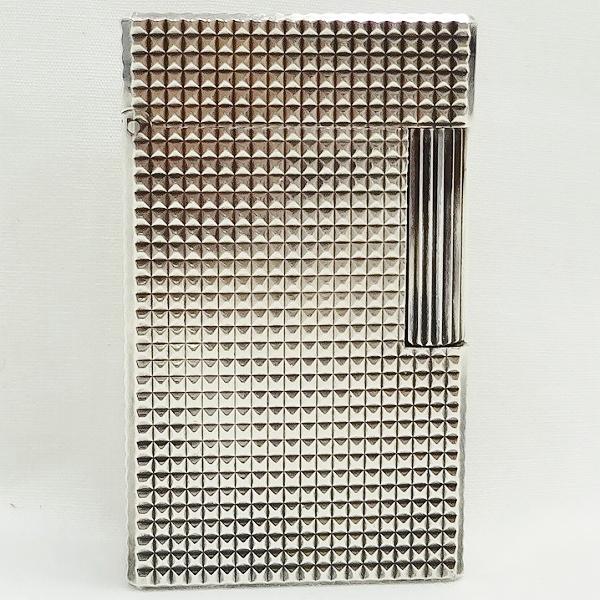 エステーデュポン ライン1L ダイヤモンドヘッド シルバー ガスライター 喫煙具 ユニセックス 小物 ★送料無料★【中古】【あす楽】