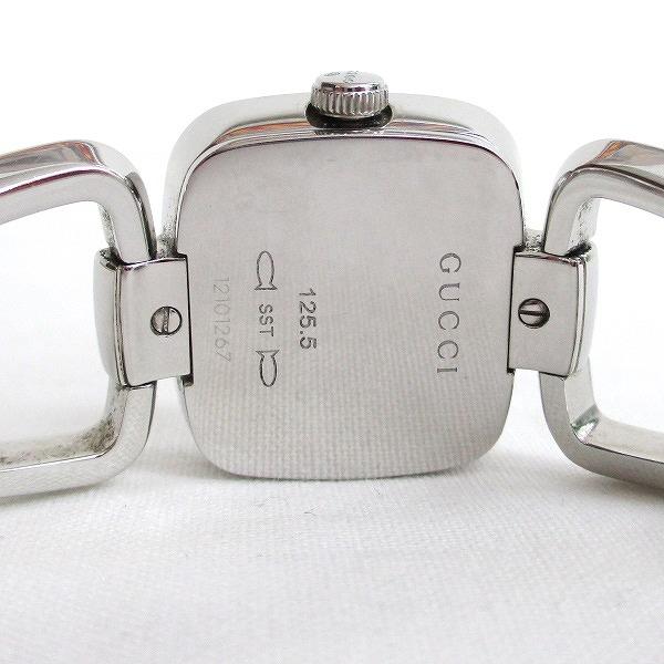 cee5b36827b Gucci GUCCI G square 3P diamond bracelet watch YA125503 clock watch Lady s