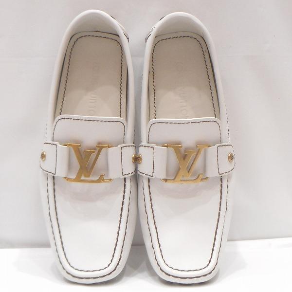 ルイヴィトン Louis Vuitton ドライビングシューズ ホワイト 靴 メンズ 小物 ★送料無料★【中古】【あす楽】