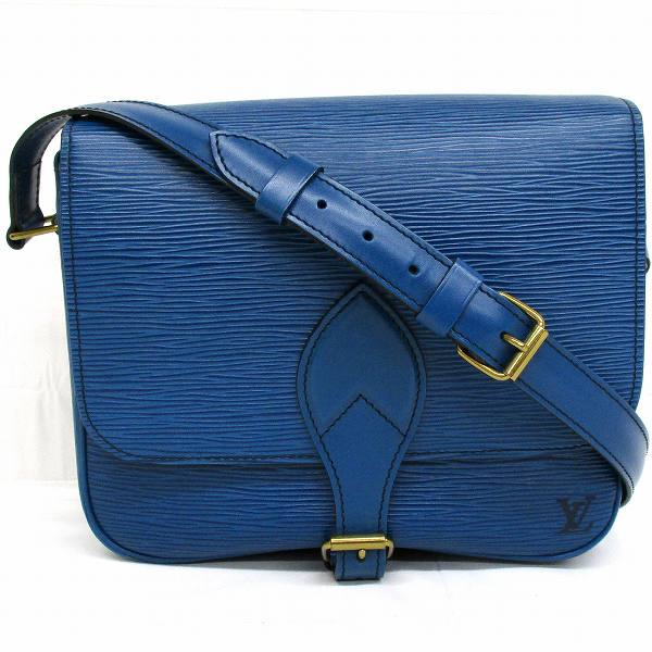 ルイヴィトン Louis Vuitton エピ カルトシエール M52245 ブルー バッグ ショルダーバッグ レディース ★送料無料★【中古】【あす楽】
