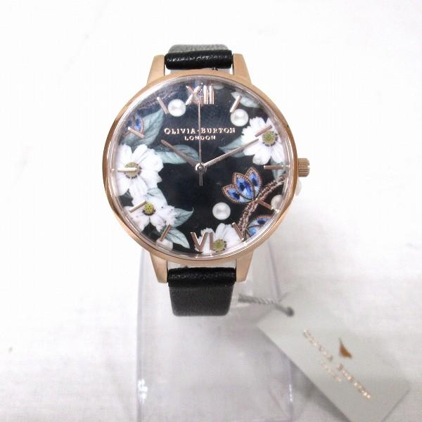 オリビアバートン フラワー ブラックダイヤル レディース 腕時計 ブレスセット 時計 腕時計 レディース 未使用品 ★送料無料★【中古】【あす楽】