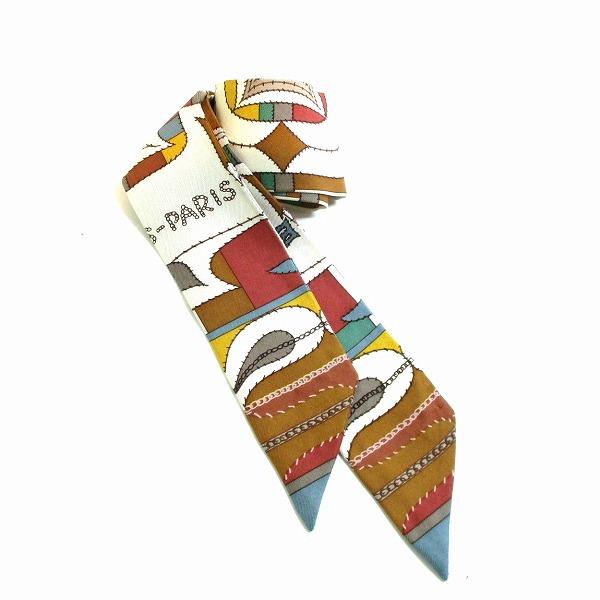 エルメス Hermes ツイリー シルク マルチカラー ファッション小物 スカーフ レディース ★送料無料★【中古】【あす楽】