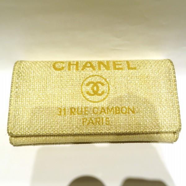 シャネル CHANEL ドーヴィル A80053 財布 長財布 レディース ★送料無料★【中古】【あす楽】