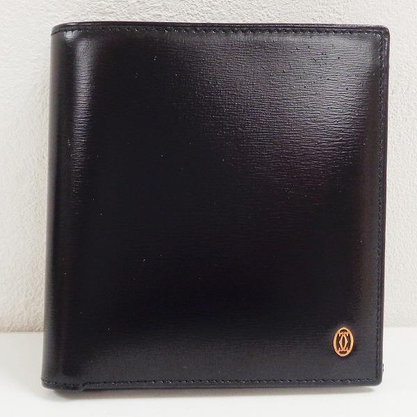 カルティエ Cartier パシャ レザー ブラック 財布 二つ折り財布 ユニセックス ★送料無料★【中古】【あす楽】
