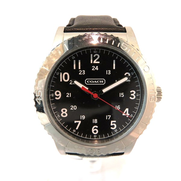 コーチ COACH CA70.2.14.0711 クオーツ 革ベルト ブラック シール付き 時計 腕時計 メンズ ★送料無料★【中古】【あす楽】