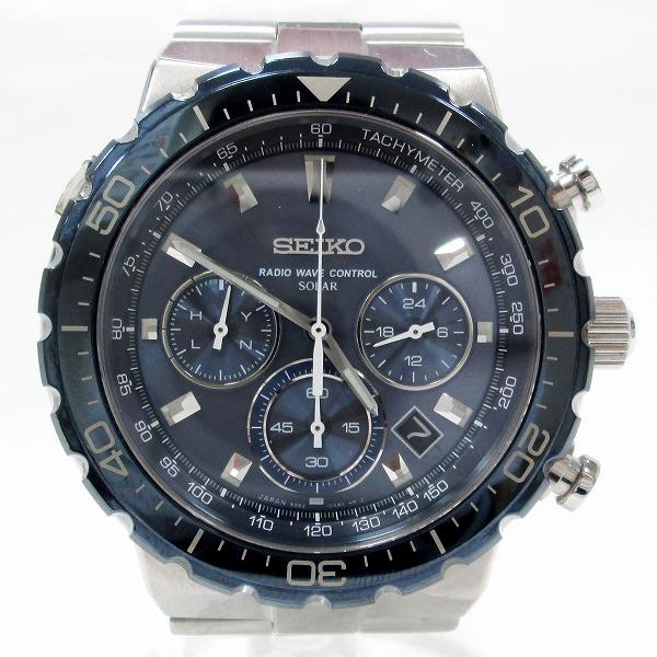 セイコー プロスペック SBDM001 時計 腕時計 メンズ ソーラー電波 ブルー文字盤 ★送料無料★【中古】【あす楽】