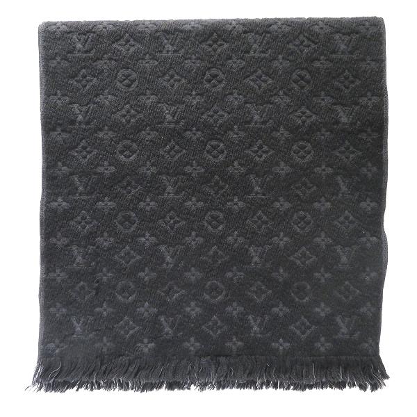 ルイヴィトン Louis Vuitton エシャルプ モノグラム クラシック ブラック M70520 ファッション小物 マフラー メンズ ★送料無料★【中古】【あす楽】