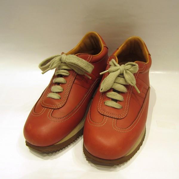 エルメス Hermes オレンジ 靴 スニーカー レディース 小物 ★送料無料★【中古】【あす楽】