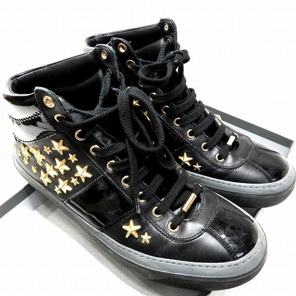ジミーチュウ ベルグラビア ガンメタルカラー スタッズ 靴 スニーカー メンズ 小物 ★送料無料★【中古】【あす楽】