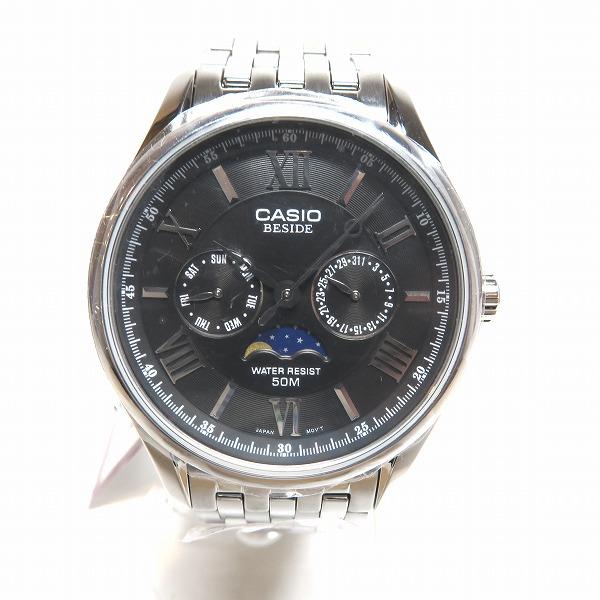カシオ BESIDE サン&ムーンフェイズ 50M ダイバー 時計 腕時計 メンズ 未使用品 ★送料無料★【中古】【あす楽】