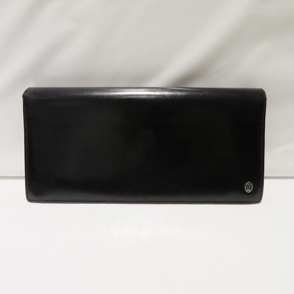 カルティエ Cartier パシャ 二つ折り 長財布 ブラック レザー ユニセックス ★送料無料★【中古】【あす楽】