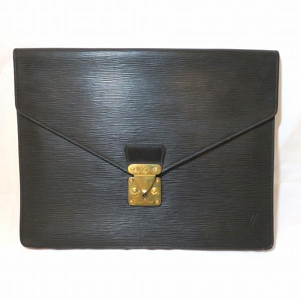 ルイヴィトン Louis Vuitton エピ ポルトドキュマンセナトゥール M54452 ノワール バッグ ビジネスバッグ メンズ ★送料無料★【中古】【あす楽】