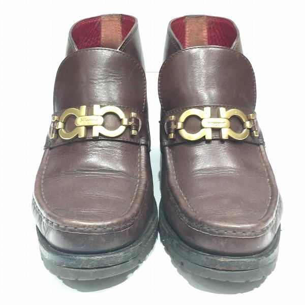 フェラガモ レザーブーツ 靴 ブーツ レディース 小物 ★送料無料★【中古】【あす楽】