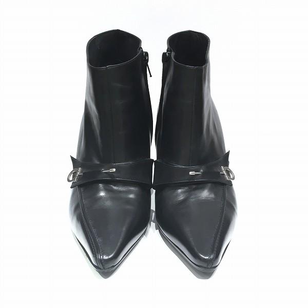 フェラガモ ガンチーニ ショートブーツ 靴 ブーツ レディース 小物 ★送料無料★【中古】【あす楽】