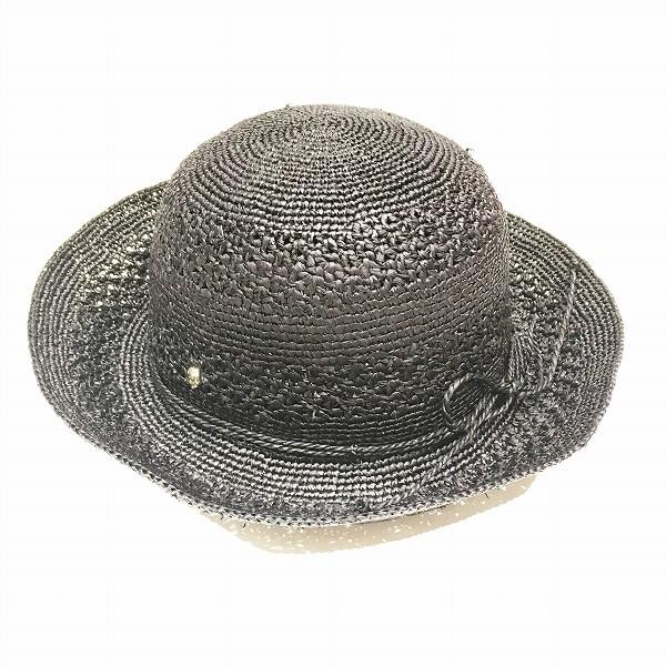 ヘレンカミスキー Juliet 8 ラフィア ブラック 帽子 ブランド小物 レディース ★送料無料★【中古】【あす楽】