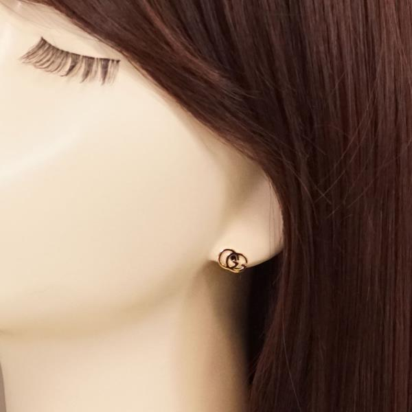 Gucci K18YG pierced earrings (one ear) metal box bag used jewelry ★★  giftwrapping for free