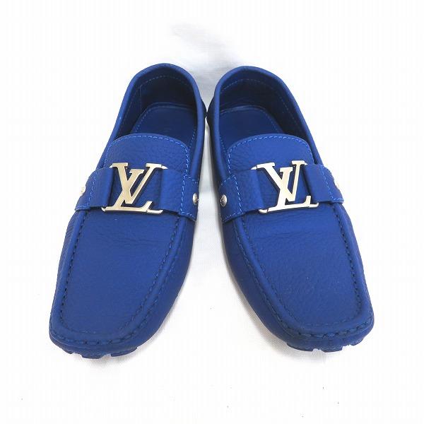 ルイヴィトン Louis Vuitton モンテカルロライン ブルー 靴 ローファー メンズ 小物 ★送料無料★【中古】【あす楽】