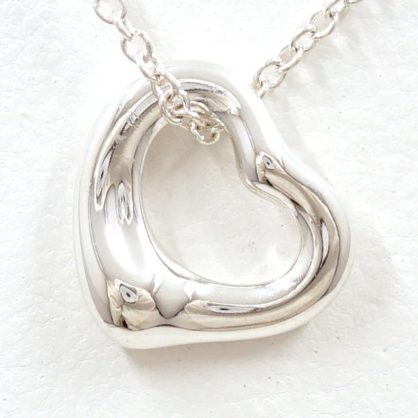 Wonder Price Tiffany Open Heart Silver Necklace Metal Box Used