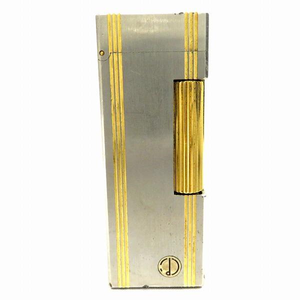 ダンヒル ライター シルバー×ゴールド ガスライター 小物 ★送料無料★【中古】【あす楽】